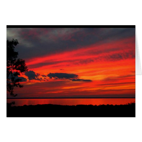 Lake Winnebago Sunset Get Well Soon Card