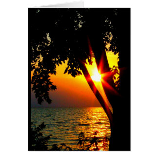 Lake Winnebago Sunset Thinking Of You Card