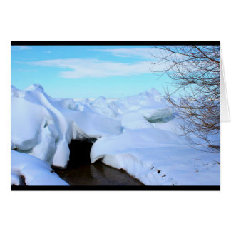 Lake Winnebago Winter Scene Thinking Of You Card