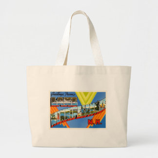 Lake Winnipesaukee #2 New Hampshire NH Old Travel Large Tote Bag