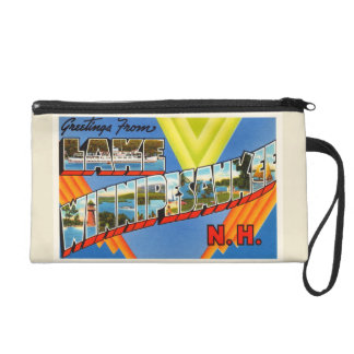 Lake Winnipesaukee #2 New Hampshire NH Old Travel Wristlet