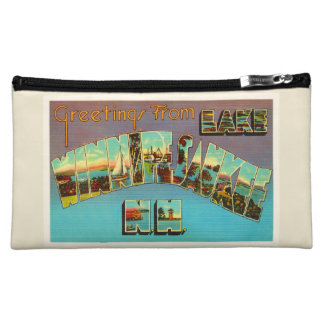 Lake Winnipesaukee New Hampshire Travel Souvenir Cosmetic Bags