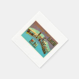Lake Winnipesaukee New Hampshire Travel Souvenir Paper Napkins