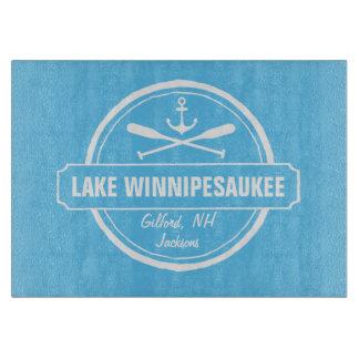 Lake Winnipesaukee NH custom town, name, anchor Cutting Boards
