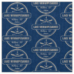 Lake Winnipesaukee NH custom town, name, anchor Fabric