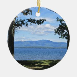 Lake Winnipesaukee Round Ceramic Ornament