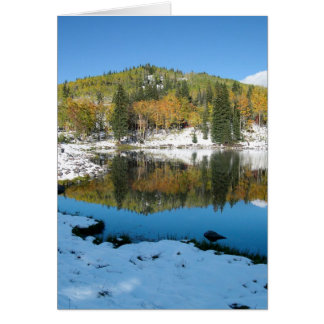 Lake with Snow Blank Photo Greeting Card