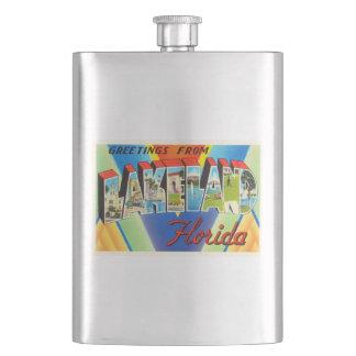Lakeland Florida FL Old Vintage Travel Souvenir Hip Flask