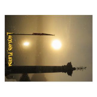 Lakeland Florida Foggy Morning Postcard