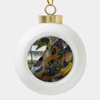 Lakeland Landmark Ceramic Ball Christmas Ornament