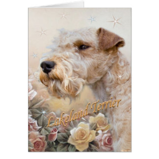 Lakeland Terrier Among Roses card