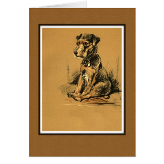 Lakeland Terrier, Dog Sitting Up Card