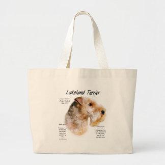 Lakeland Terrier History Design Large Tote Bag