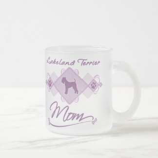 Lakeland Terrier Mom Frosted Glass Coffee Mug