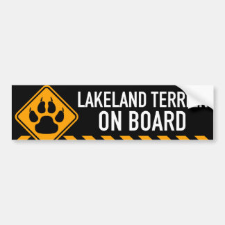 Lakeland Terrier On Board Bumper Sticker