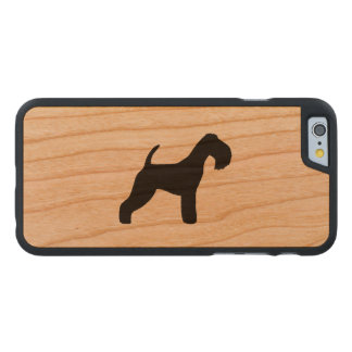 Lakeland Terrier Silhouette Carved Cherry iPhone 6 Case