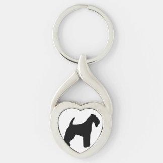 lakeland terrier silhouette keychain
