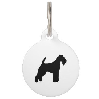 lakeland terrier silhouette pet tag