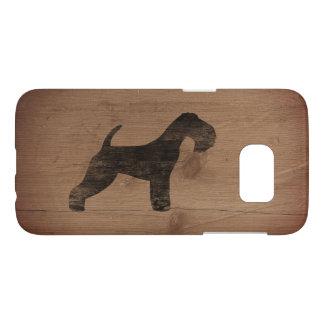 Lakeland Terrier Silhouette Rustic Samsung Galaxy S7 Case