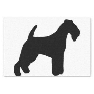 lakeland terrier silhouette tissue paper
