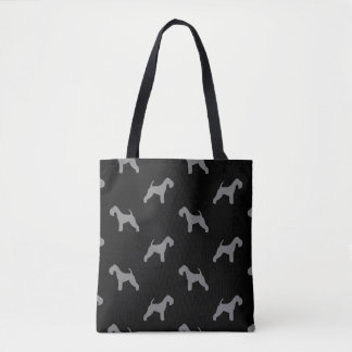 Lakeland Terrier Silhouettes Pattern Tote Bag