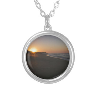 Lakes Entrance Sunrise Silver Plated Necklace