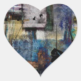Lakeshore at Dawn Heart Sticker