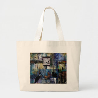 Lakeshore at Dawn Large Tote Bag