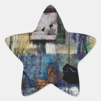 Lakeshore at Dawn Star Sticker