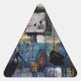 Lakeshore at Dawn Triangle Sticker