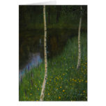 Lakeshore with Birches - Gustav Klimt Cards