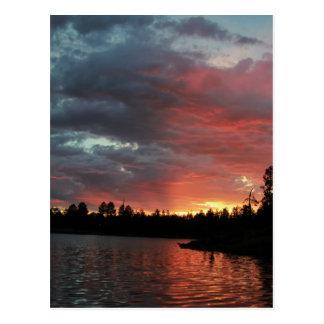 Lakeside, AZ Sunset Postcard