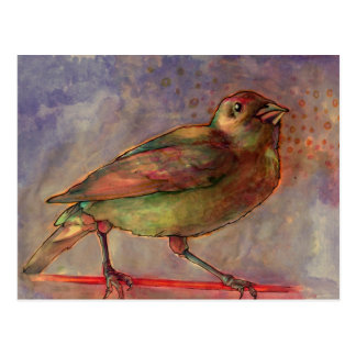 Lakeside Bird Watercolor painting postcard