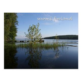 Lakeside in Suomi Finland Postcard