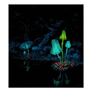 "Lakeside Mushrooms (16"" x 17.78"", Matte) Poster"