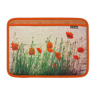 Lakeside Poppies Flowers MacBook Air Sleeve 11""