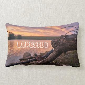 Lakeside Sunset Lumbar Pillow