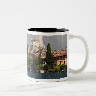 Lakeside town, Malcesine, Verona Province, Italy Two-Tone Coffee Mug