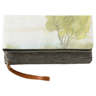 Lakeside Tree Fold-over clutch
