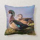 Lakeside, Wood Duck Throw Pillow