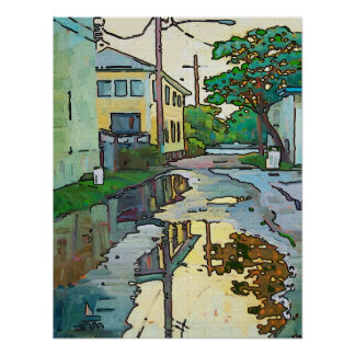 Lakeview Alley, New Orleans Art Poster