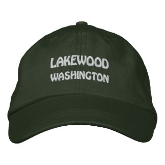 LAKEWOOD, WASHINGTON EMBROIDERED HAT
