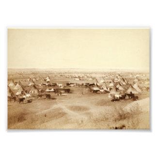 Lakota Camp Photo Enlargement