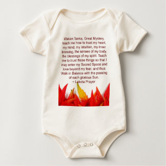 lakota prayer infant onsie baby bodysuit