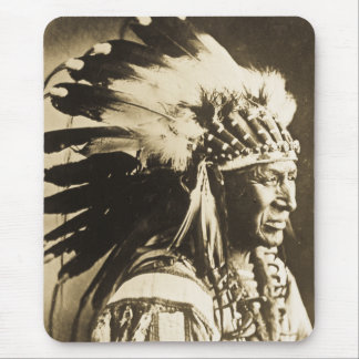 Lakota Sioux Chief White Swan Mouse Pad