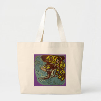 lakshimi in copper on the beach large tote bag
