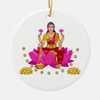 Lakshmi Ceramic Ornament