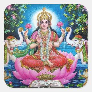 Lakshmi Goddess Large Square Sticker