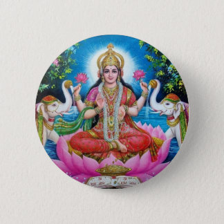 Lakshmi Goddess of Love, Prosperity, and Wealth 2 Inch Round Button