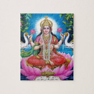Lakshmi Goddess of Love, Prosperity, and Wealth Jigsaw Puzzle